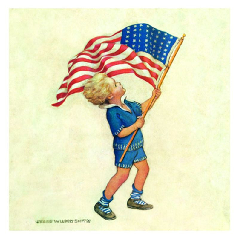 Jessie Willcox Smith Greeting Cards : Waving the Flag - challengeandfunretail