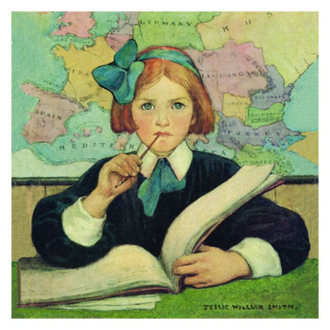 Jessie Willcox Smith Greeting Cards : The Scholar - challengeandfunretail