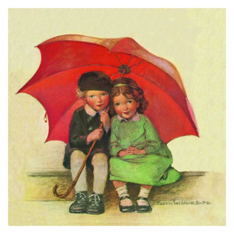 Jessie Willcox Smith Greeting Cards : The Umbrella - challengeandfunretail