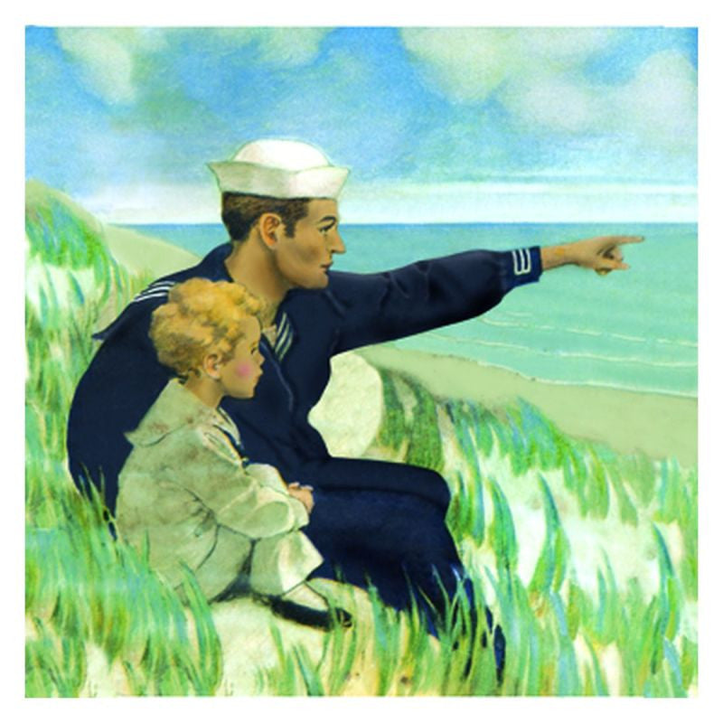 Jessie Willcox Smith Greeting Cards : Looking Out to Sea - challengeandfunretail