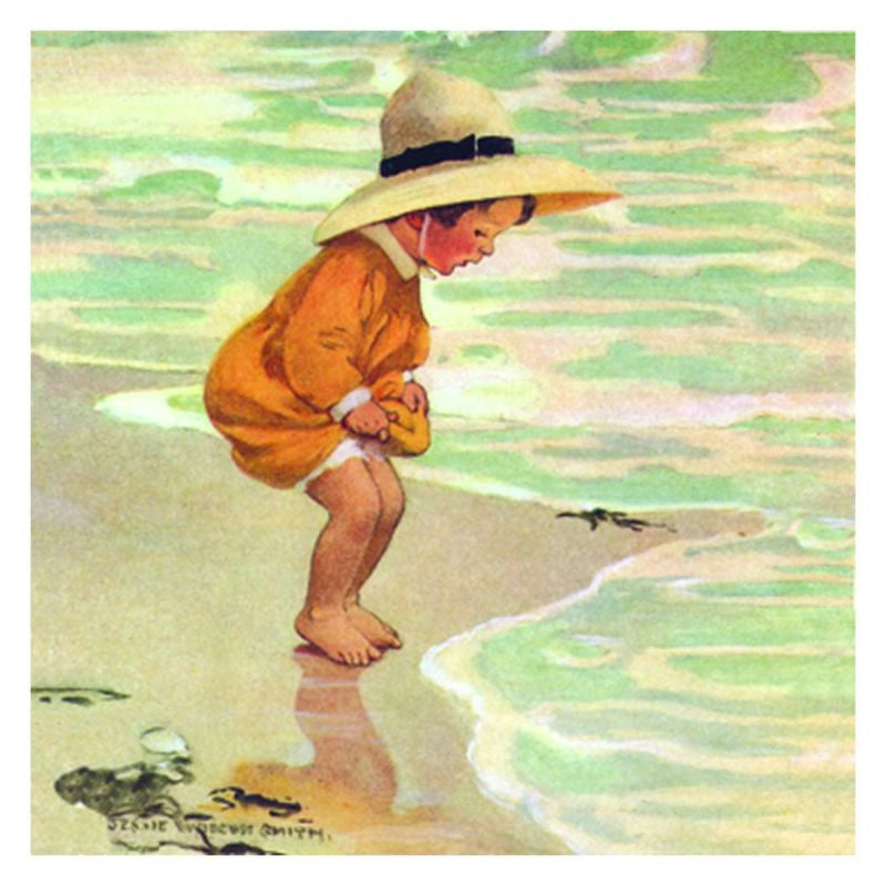 Jessie Willcox Smith Greeting Cards : Sea Blossom - challenge and fun natural toys