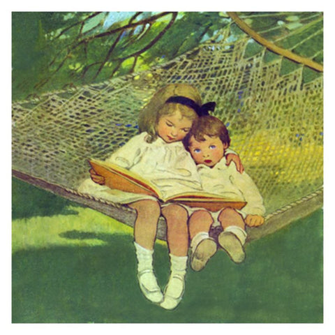 Jessie Willcox Smith Greeting Cards : Two in a Hammock - challenge and fun natural toys