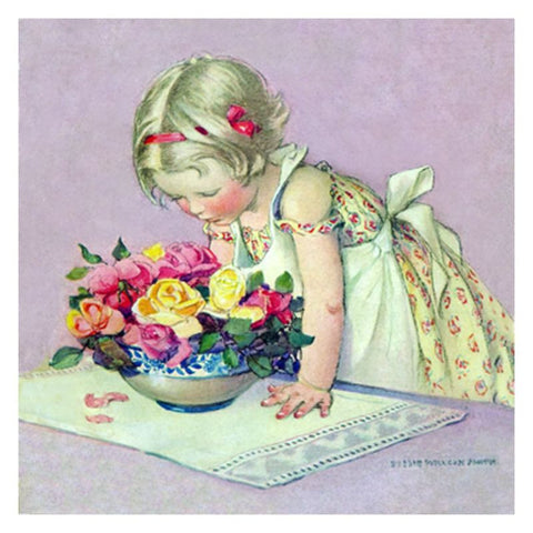 Jessie Willcox Smith Greeting Cards : Smelling the roses - challenge and fun natural toys