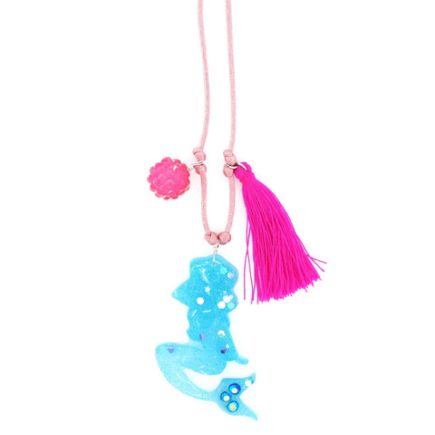 Mermaid Resin Necklace + Bookmark by Sadie's Moon