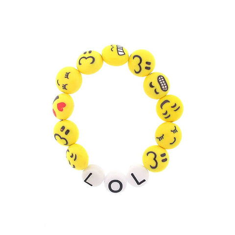 LOL Emoji  Stretch Bracelet by Sadie's Moon