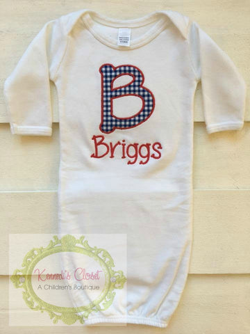 Baby Initial Applique Gown