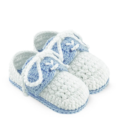 Hand Crochet Baby Boys Classic Oxford shoe