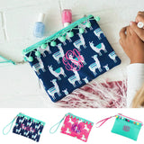 Girls Pom Pom Wristlet Unicorn, Llama & Mint