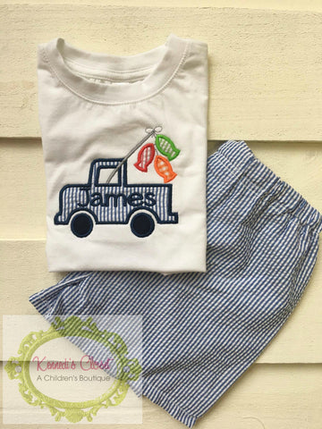 Fishing Truck Personalized Shirt