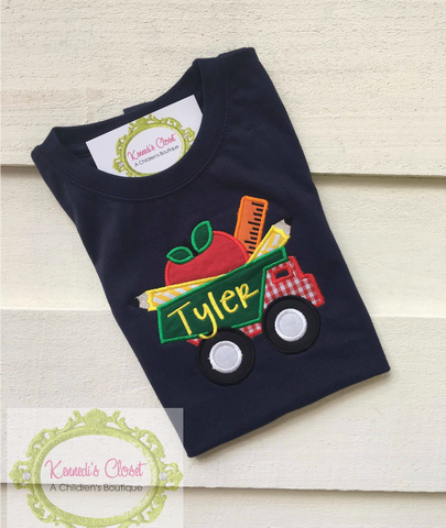 Dump Truck School Supplies Shirt