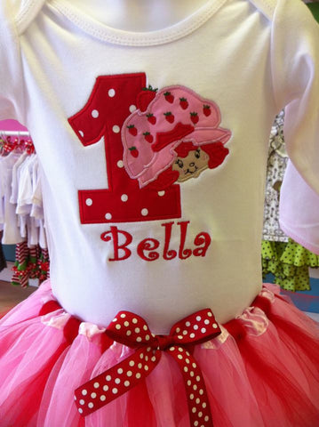 Strawberry Shortcake Birthday TuTu Set