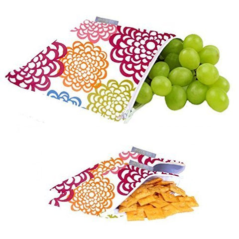 Kids Mini Snack Bags- Reusable Snack Fresh Bloom