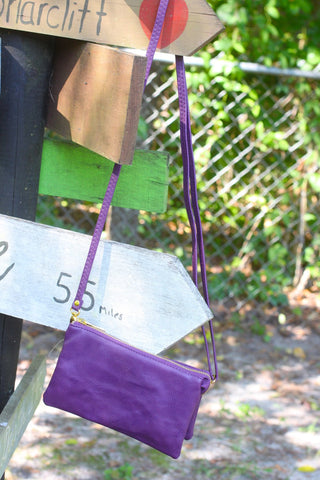 Monogrammed Clutch purple