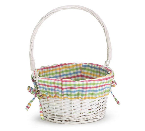 Easter Basket Willow Plaid