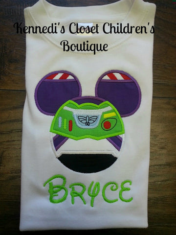 Toy Story Mouse Applique Buzz Woody