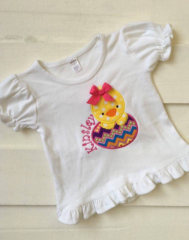 Easter Chick Ruffle Shirt