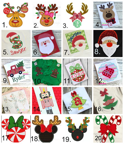 Christmas Applique Collage