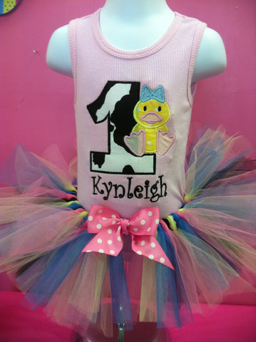Cow Ducky Birthday TuTu Set