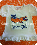 Orange Gator Girl Shirt