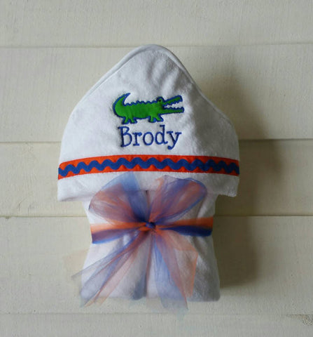 Hooded Towel Gator (available for boy and girl)