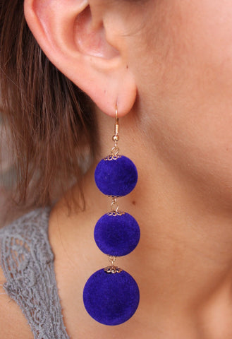 Ball Drop Earrings Royal