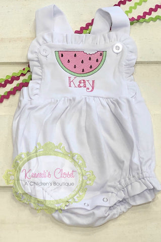 Watermelon Knit Sunsuit Bubble