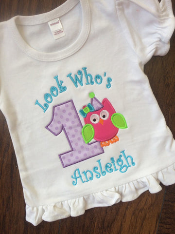 Look who's 1 Birthday shirt