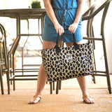 Large Leopard Tote with free Monogramming