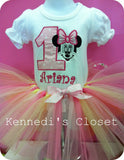 Minnie Mouse Pastel Birthday TuTu Set