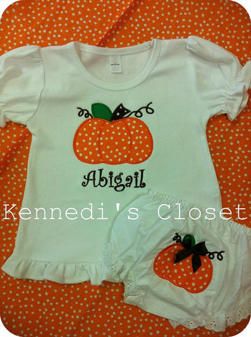 Pumpkin Shirt and Bloomer Set