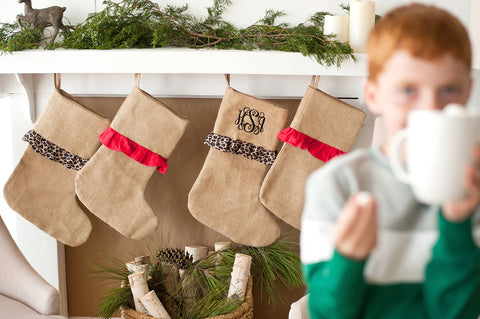 Burlap Stocking Collection