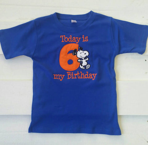 Snoopy Birthday Shirt