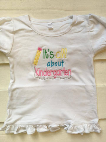 All about Kindergarten School Shirt