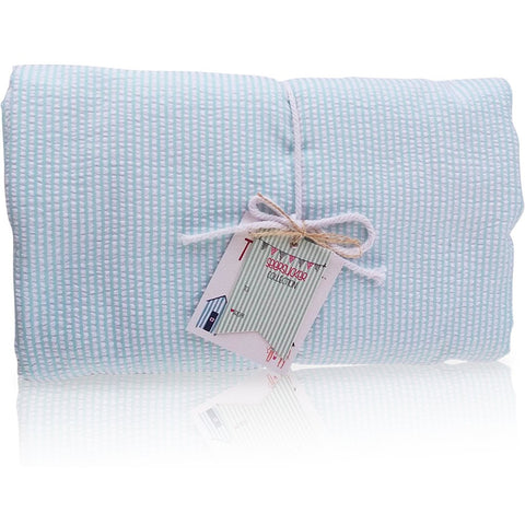 Seersucker Aqua Towel Blanket- Palm Beach Crew