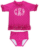 RB Berry Polka Dots Rash Guard SS