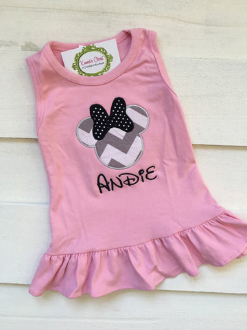 Minnie Light Pink & Black Dress