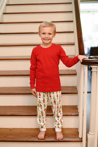 Nutcracker Red Pajama Pant Set