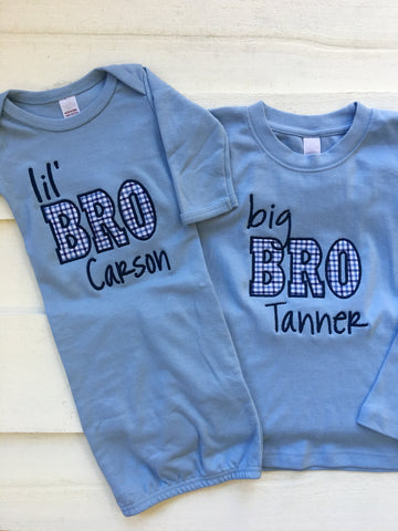 Big Brother/ Little Brother Set Blue