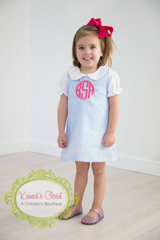 Girls Aline Dress- Seersucker All Colors