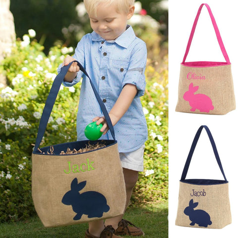 Burlap Easter Bucket