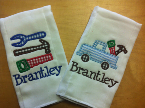 Burp Cloth Applique Set of 2 Tools