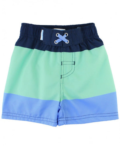 Mint and Blue Color Block Swim Trunks by RuggedButts