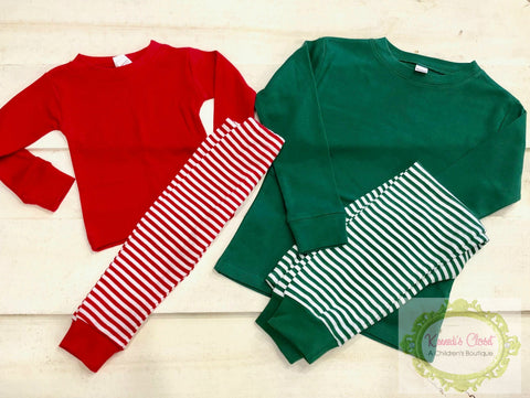 Stripe Holiday Pajamas