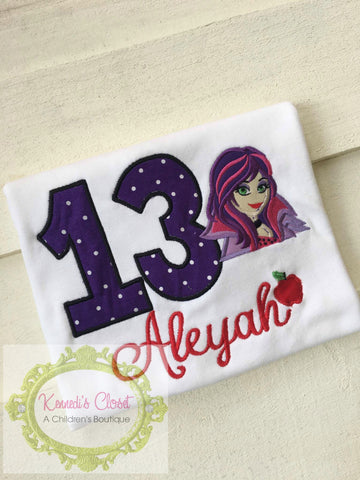Descendants Mal Birthday Shirt