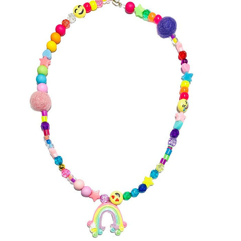 Over the Rainbow Be Happy Necklace by Sadie's Moon