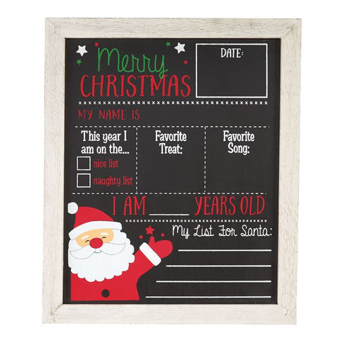 Fall and Christmas Chalkboard by Mud Pie