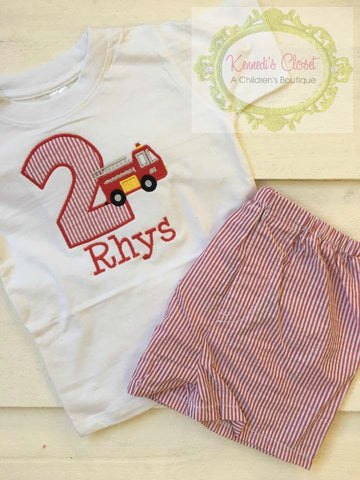 Firetruck Birthday Set