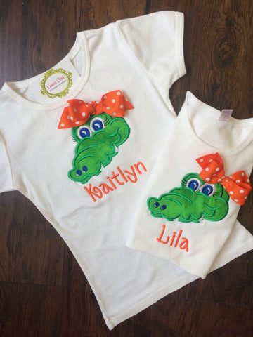 Alligator Shirt with Bow