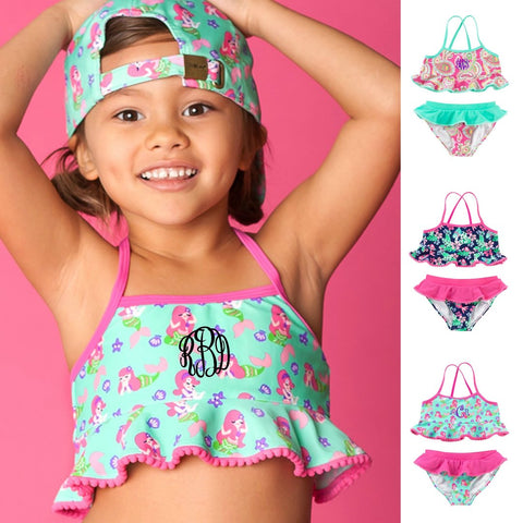 Girls Ruffle Swimsuits