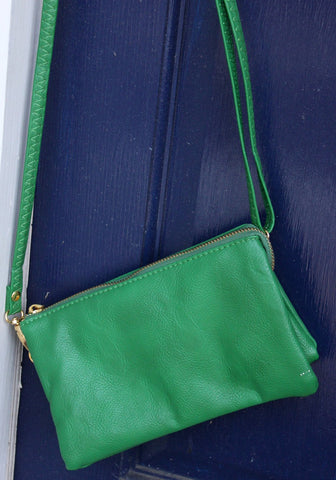 Monogrammed Clutch Kelly Green